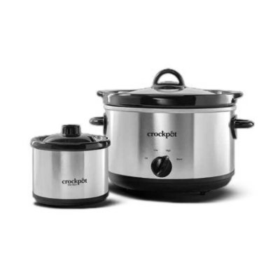 Crockpot™ 5-Quart Round Manual Slow Cooker, Stainless Steel