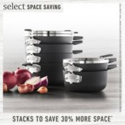 Select by Calphalon™ Space-Saving Hard-Anodized Nonstick 9-Piece Cookware Set image number 1