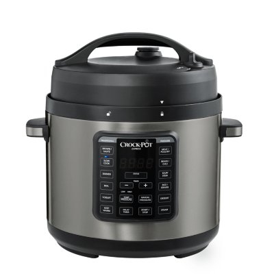 Crockpot™ Express 6-Qt Pressure Cooker, Black Stainless Steel