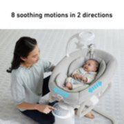 soothe my way baby swing with removable rocker image number 1