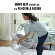 soothe my way baby swing with removable rocker image number 2