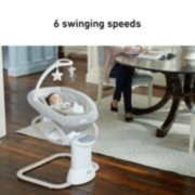 soothe my way baby swing with removable rocker image number 3