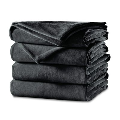 Sunbeam® Cozy Feet Velvet Heated Blanket with Digital Display Controller