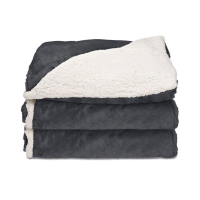 Microplush Reverse Sherpa Heated Throw