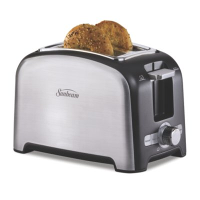 Sunbeam® 2-Slice Wide-Slot Toaster, Brushed Stainless Steel