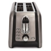 Oster® Black Stainless Collection 4-Slice Long Slot Toaster image number 2