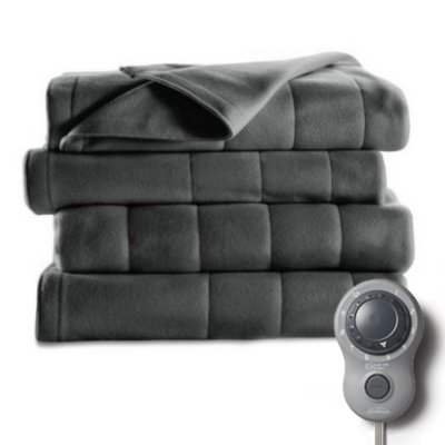 Fleece Heated Blanket with Dial Controller