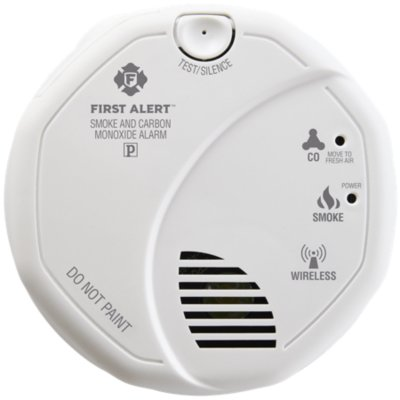 Wireless Smoke & Carbon Monoxide Alarm Works with ZWAVE & Ring