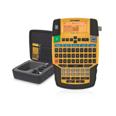 """DYMO Rhino 4200 Industrial Label Maker Kit with Carry Case and 1 Roll of 1/2"""" All-Purpose Vinyl Labels"""