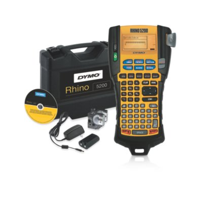 DYMO Rhino 5200 Industrial Label Maker with Carry Case