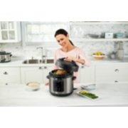 Crockpot™ Express 6-Qt Pressure Cooker, Black Stainless Steel image number 4