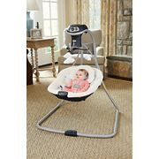 simple sway swing in living room with baby inside image number 3
