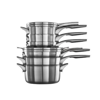 Calphalon Premier™ Space-Saving Stainless Steel 10-Piece Set