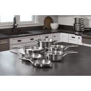 Calphalon Premier™ Space-Saving Stainless Steel 10-Piece Set image number 7