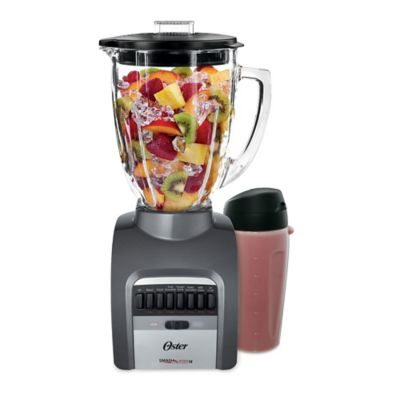 Oster® Smash Blender 14-Speed Blender with XL 8-Cup Jar and 20oz Blend-N-Go™ Cup, Grey