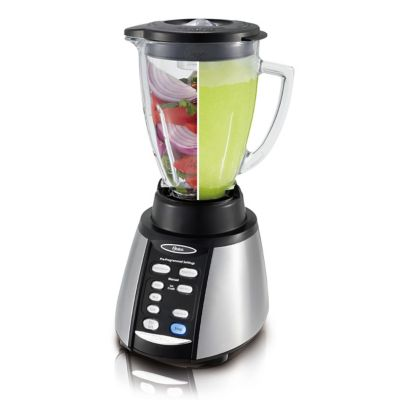 Oster® Classic Series Blender with Reversing Blade Technology - Brushed Nickel - Glass Jar