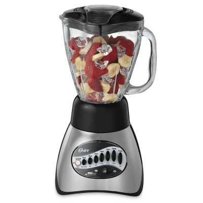 Oster® Classic Series 16 Speed Blender with 5-Cup Glass Jar, Brushed Nickel
