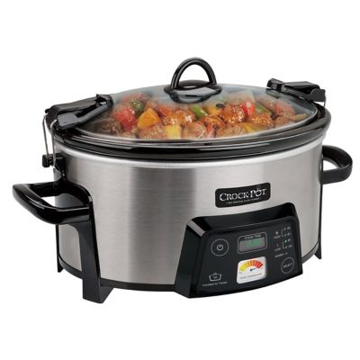 Crockpot™ 6.0-Quart Heat-Saver™ Cook & Carry™ Slow Cooker, Programmable, Stainless Steel