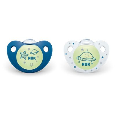 Cute-as-a-Button Glow-in-the-Dark Orthodontic Pacifiers