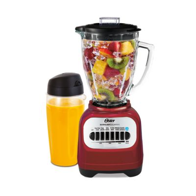 Oster® Classic Series 8-Speed Blender with Travel Smoothie Cup, Red