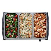 Oster® Large Triple Warming Tray Buffet Server image number 2
