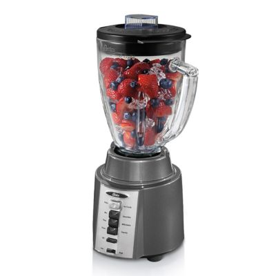 Oster® Rapid Blend 300 Blender with 8-Speeds and 6-Cup Glass Jar, Gray