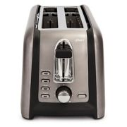 Oster® Black Stainless Collection 4-Slice Long Slot Toaster image number 4