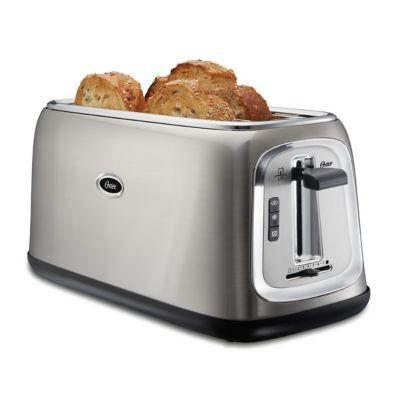 Oster® 4-Slice Long-Slot Toaster, Stainless Steel