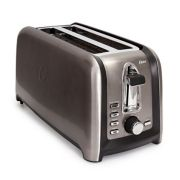 Oster® Black Stainless Collection 4-Slice Long Slot Toaster image number 3