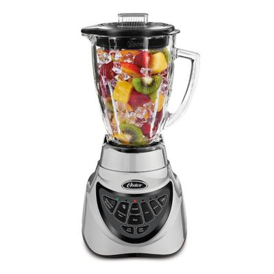 Oster® Pro 500 Blender with 2 Pre-Programmed Settings and 6-Cup Glass Jar, Brushed Nickel