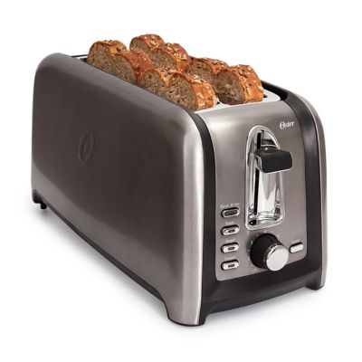 Oster® Black Stainless Collection 4-Slice Long Slot Toaster