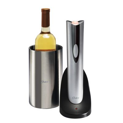 Oster® Silver Electric Wine Opener with Chiller