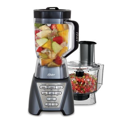 Oster® Pro 1200 Blender with 3 Pre-Programmed Settings and 5-Cup Food Processor, Gray