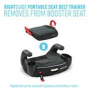 Turbo booster right guide portable seat belt trainer removes from seat image number 1