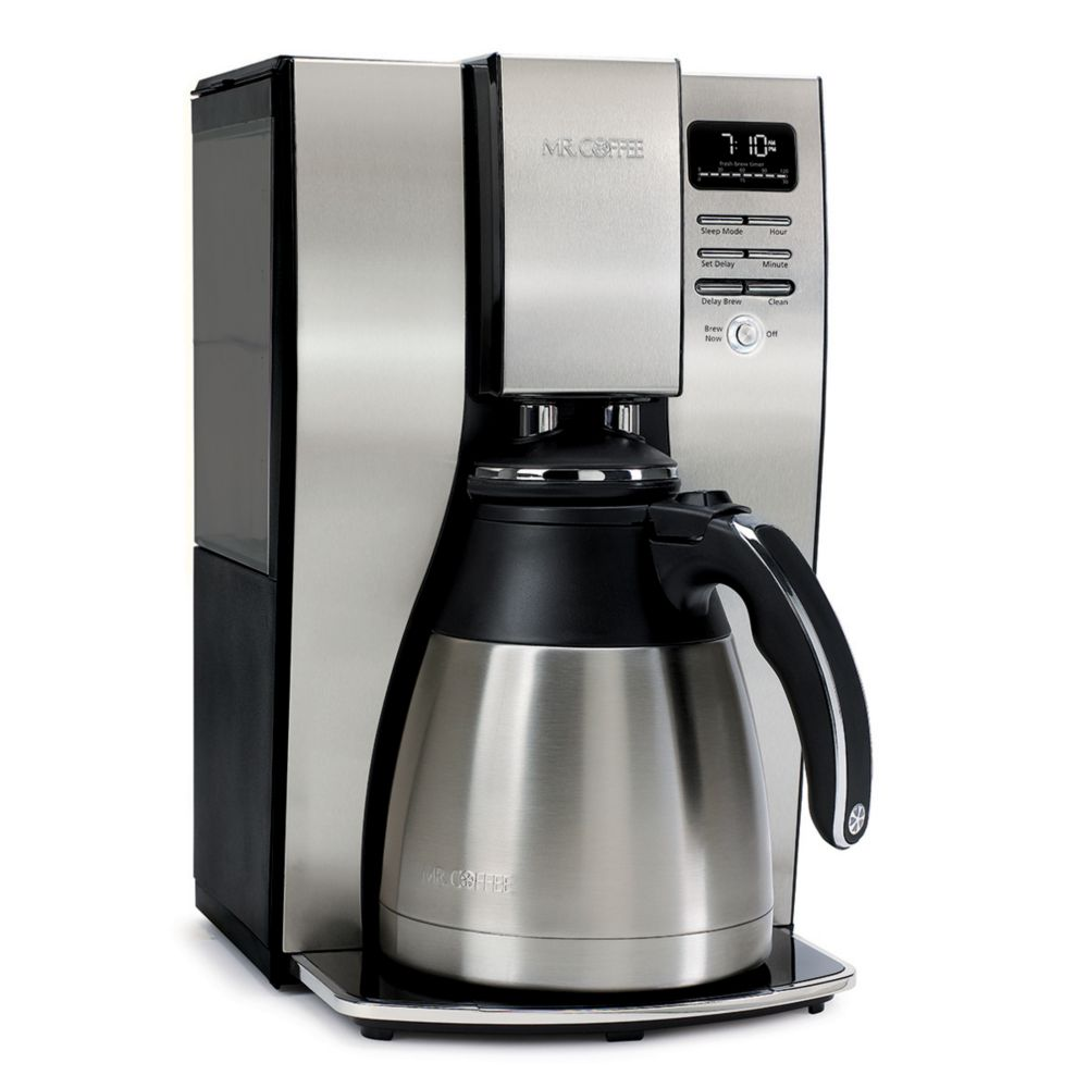 Mr Coffee Bvmc Pstx95 Optimal Brew Thermal Coffeemaker 10 Cup Mr Coffee
