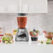 Oster® Classic Series 16 Speed Blender with Food Chopper and Glass Jar, Brushed Nickel image number 5