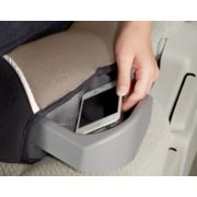 backless car seat with storage on left to fit a phone image number 4