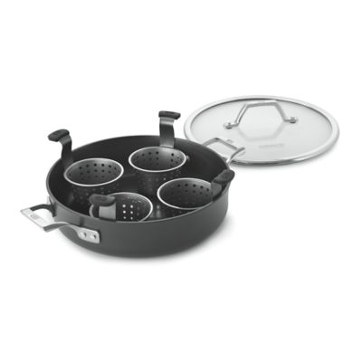 Calphalon Williams-Sonoma Elite Hard-Anodized Nonstick 3-Quart Egg Poacher