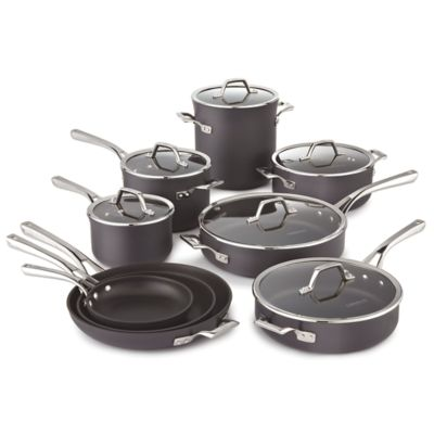 Calphalon Williams-Sonoma Elite Hard-Anodized Nonstick 15-Piece Cookware Set