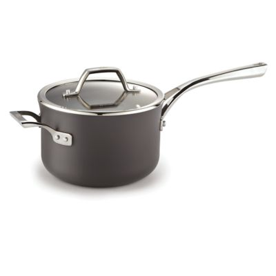 Calphalon Williams-Sonoma Elite Hard-Anodized Nonstick 3.5-Quart Sauce Pan with Cover