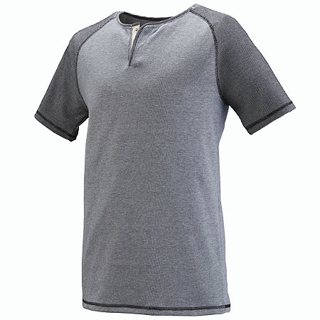 LINEAR FUSION SHORT SLEEVE HENLEY