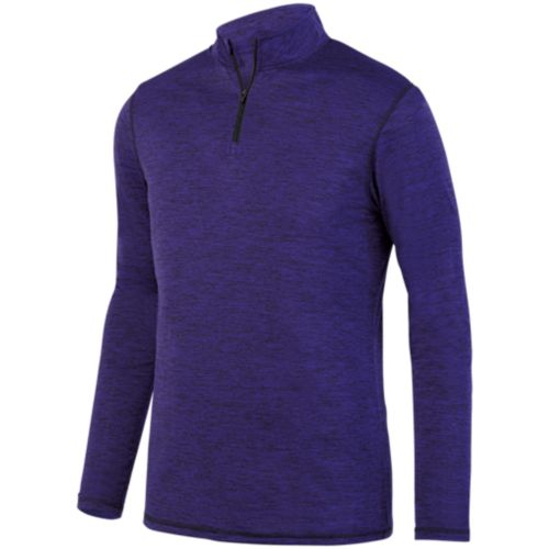 INTENSIFY BLACK HEATHER 1/4 ZIP PULLOVER