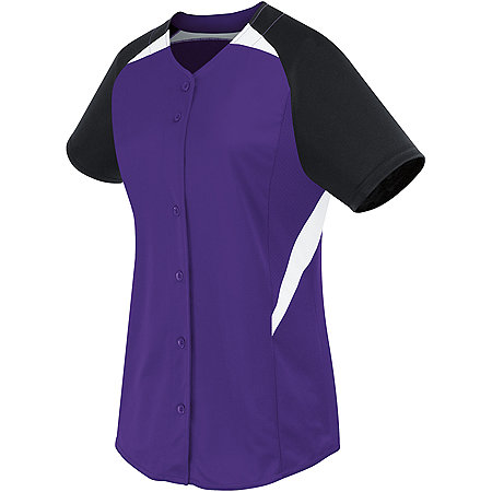 LADIES GALAXY FULL BUTTON JERSEY