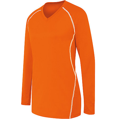 LADIES LONG SLEEVE SOLID JERSEY