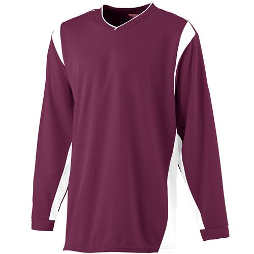 WICKING LONG SLEEVE WARMUP SHIRT - YOUTH