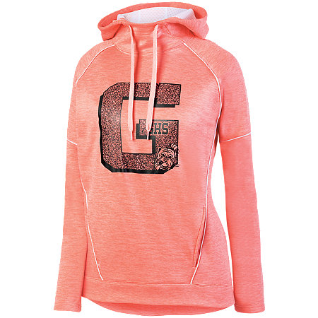 LADIES ZOE TONAL HEATHER HOODY