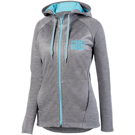 LADIES ZOE TONAL HEATHER FULL ZIP HOODY