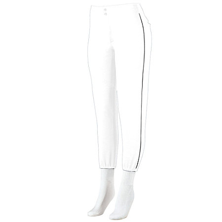 LADIES LOW-RISE SOFTBALL PANT WITH PIPING