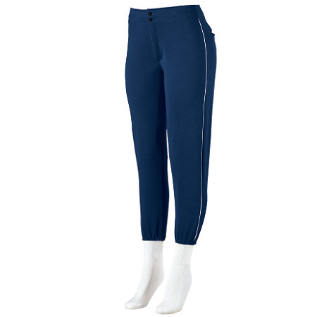 GIRLS LOW-RISE SOFTBALL PANT WITH PIPING