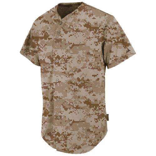 Majestic® Youth Coolbase® USMC Desert Marpat Digital Camo Button-Front Jersey